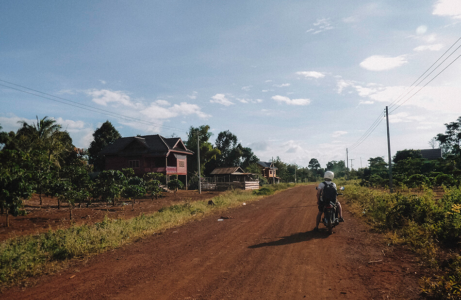 Driving a part of the Bolaven Plateau big loop