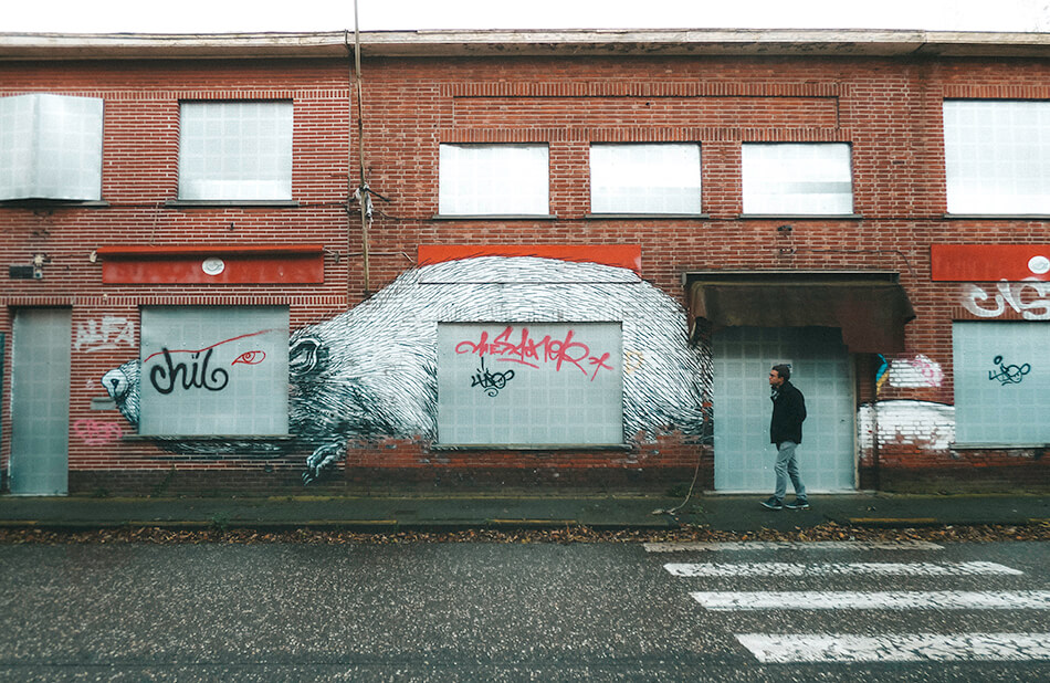 Doel maybe is a decaysing ghost town but it certainly is a street art paradise