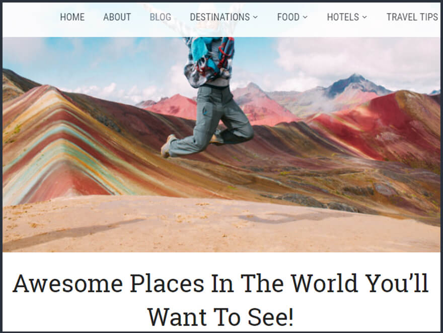 Mentionned in article by Travel Like a Chieff