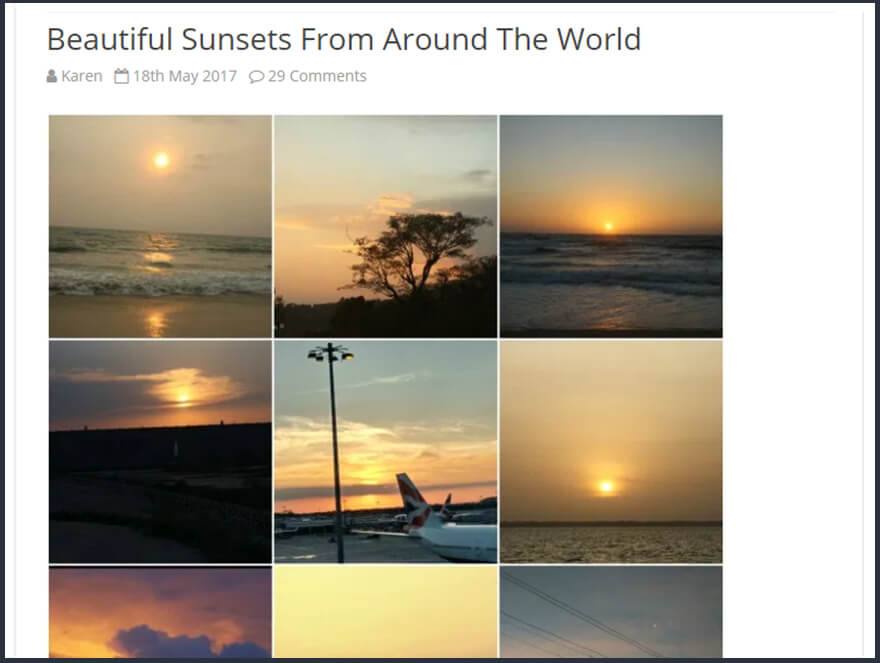 Guest post beautiful sunsets epicurious explorer