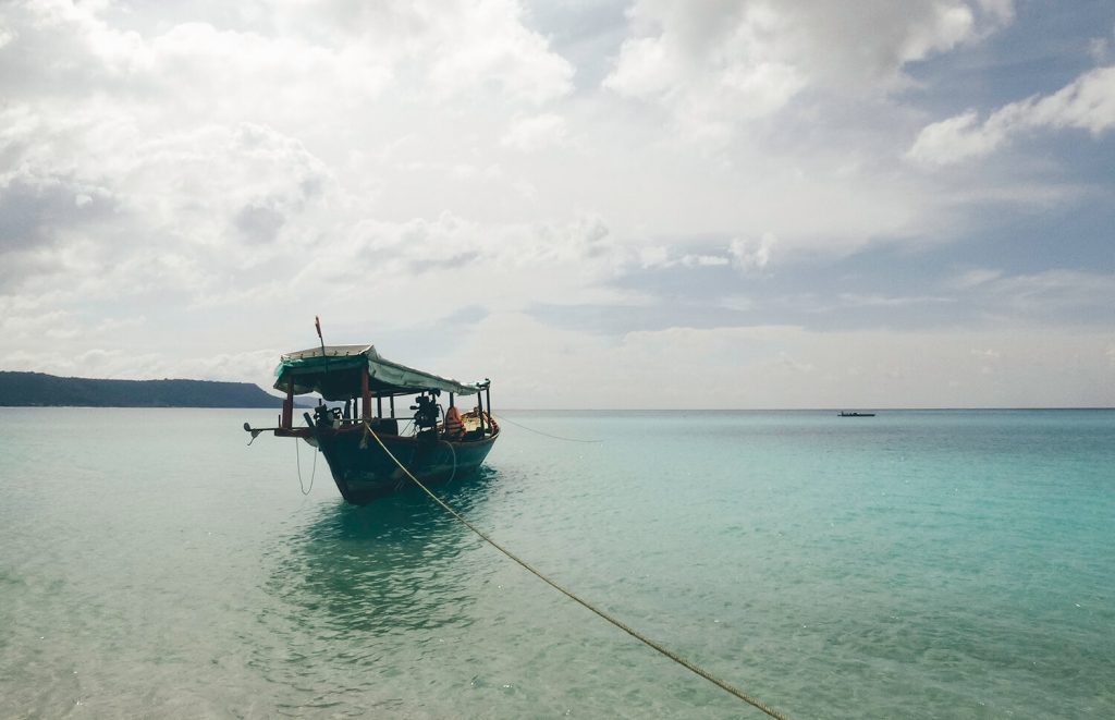 Certain beaches are only accessible when a local takes you there on his boat.