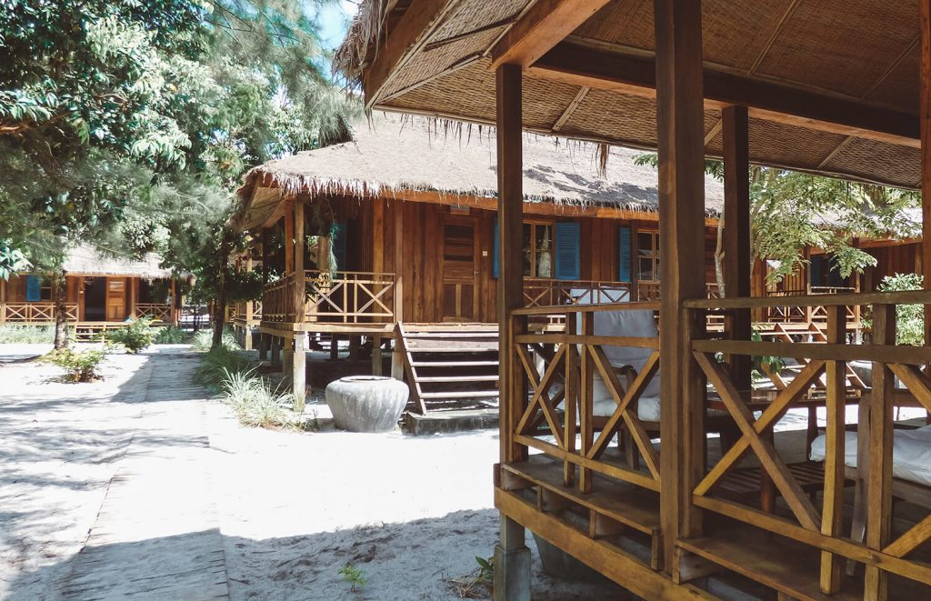 Bungalows at the Sok San Beach Resort on Koh Rong