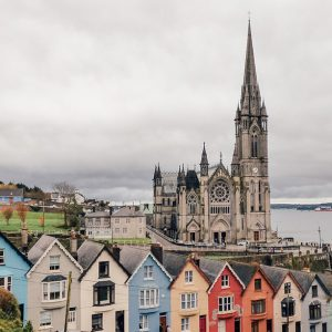 View over the Painted Ladies of Cobh, Ireland