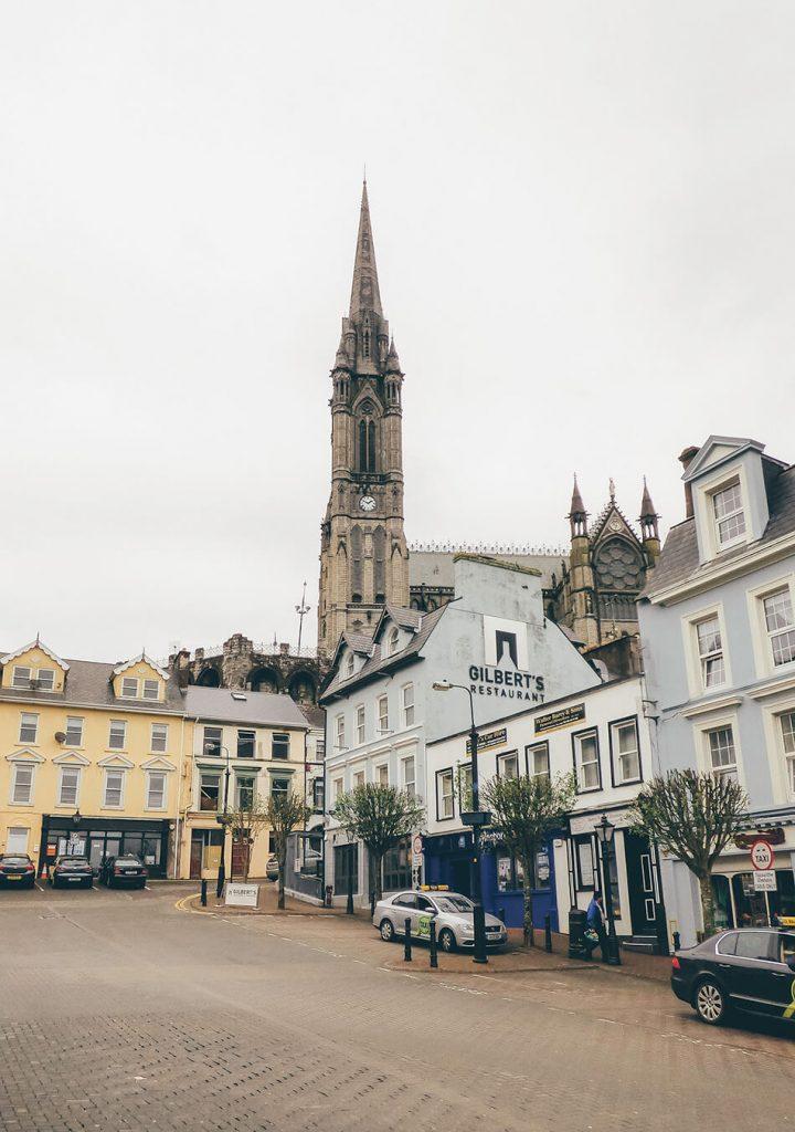 Cute square in Cobh where we found Gilberts Bistro