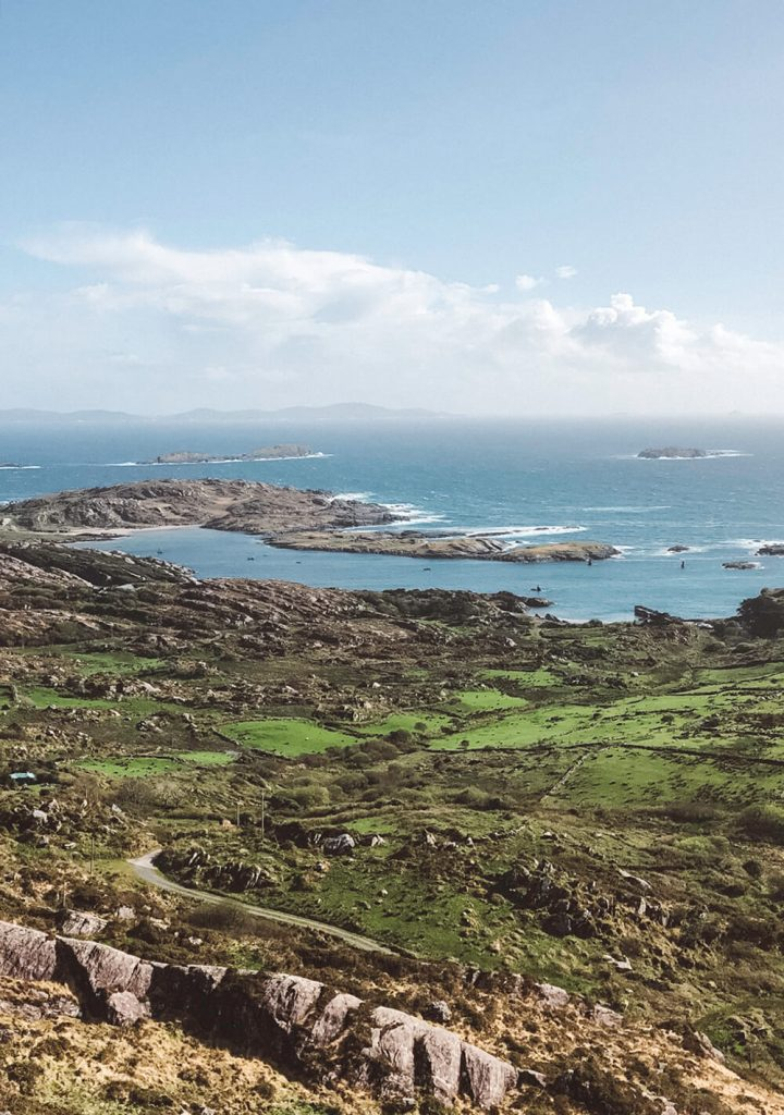Sweeping views of the Atlantic Ocean from the Ring of Kerry, Ireland