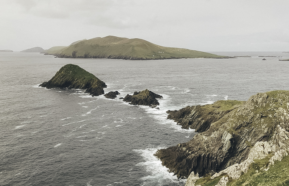 The Blasket islands on the Dinggle Peninsula drive