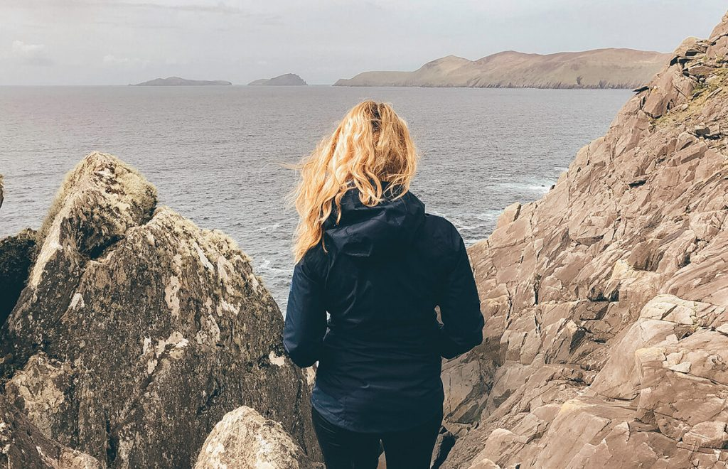 Looking out over the Basket Islands on the Dingle Peninsula Drive