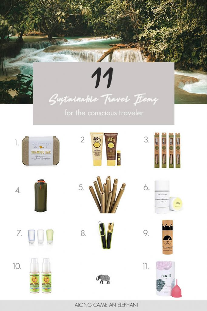 11 eco friendly items you'll need for your future travels #travel #sustainable