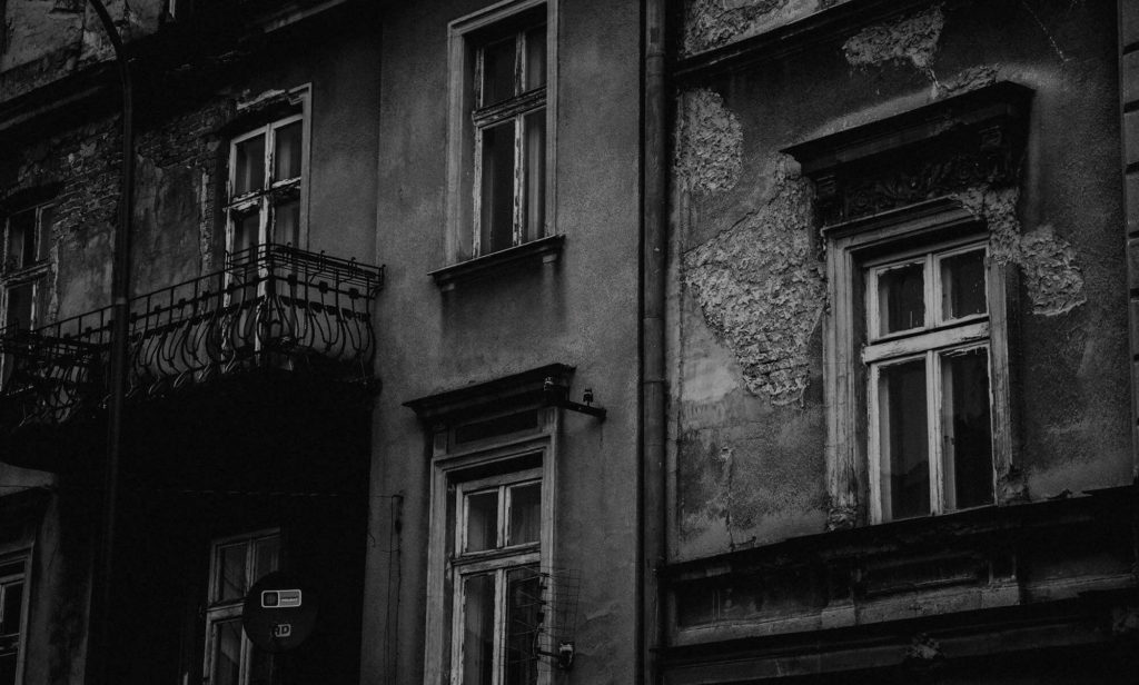 Krakow's façades still reflect the history of World War II.