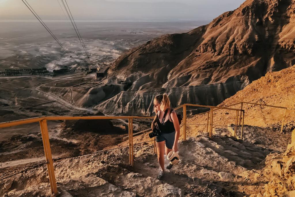 Hiking the Snake Path to Masada