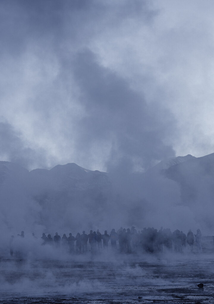 Steaming plumes at the El Tatio geysers on our self drive