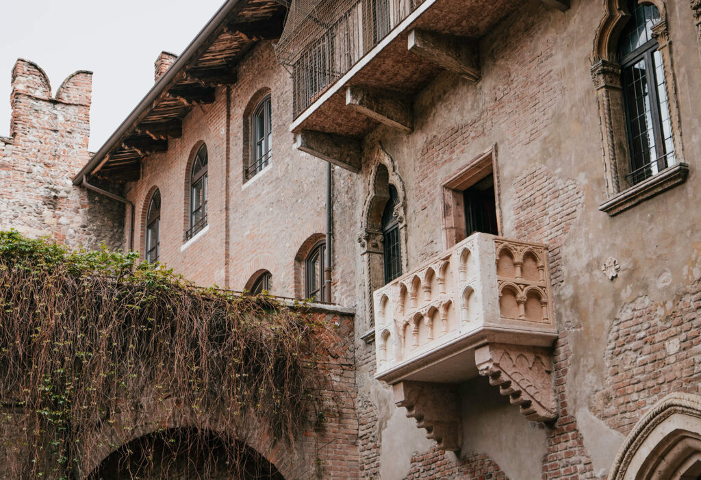The balcony of Juliet's House that gave fame to Verona as the City of Love