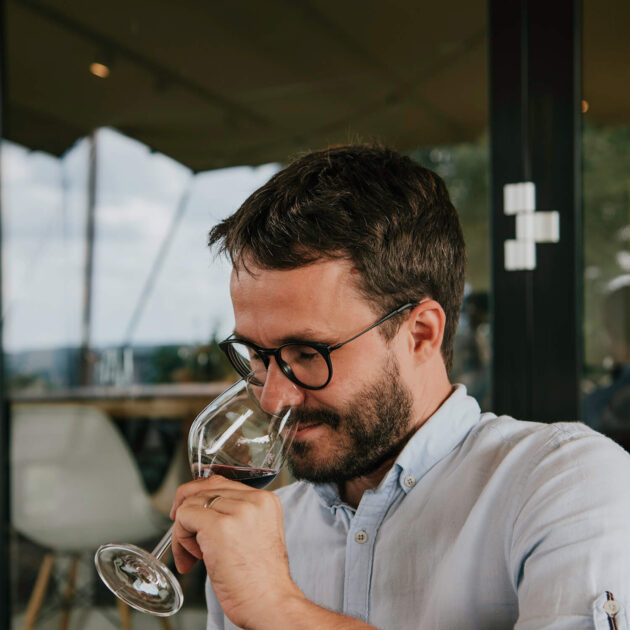 Tasting wine in South Netherlands