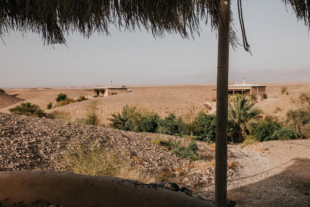 Midbara Cabins peppered across the desert landscape