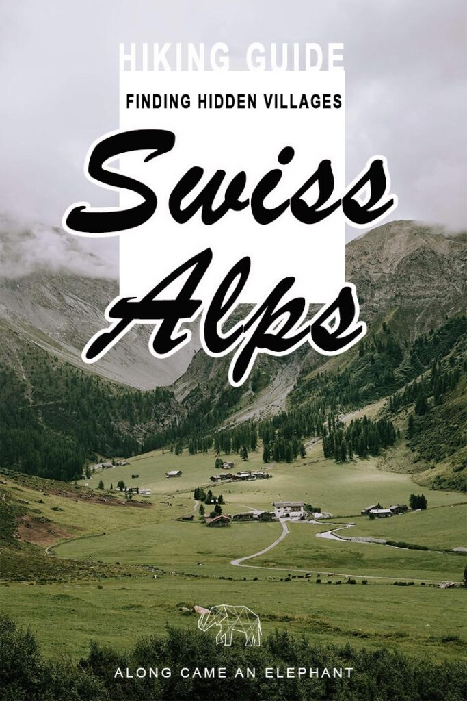 Hiking the Swiss Alp to find small hidden villages amongst the mountainous scenery. Hiking in Switzerland can be a breath of fresh air and an excellent travel inspiration for adventurous travel. Our hiking guide to the Swiss Alps covers the most beautiful hike of them all: to Sertig Dörfli! #wanderlust #switzerland #explore #travel #hiking #smalltowntravel