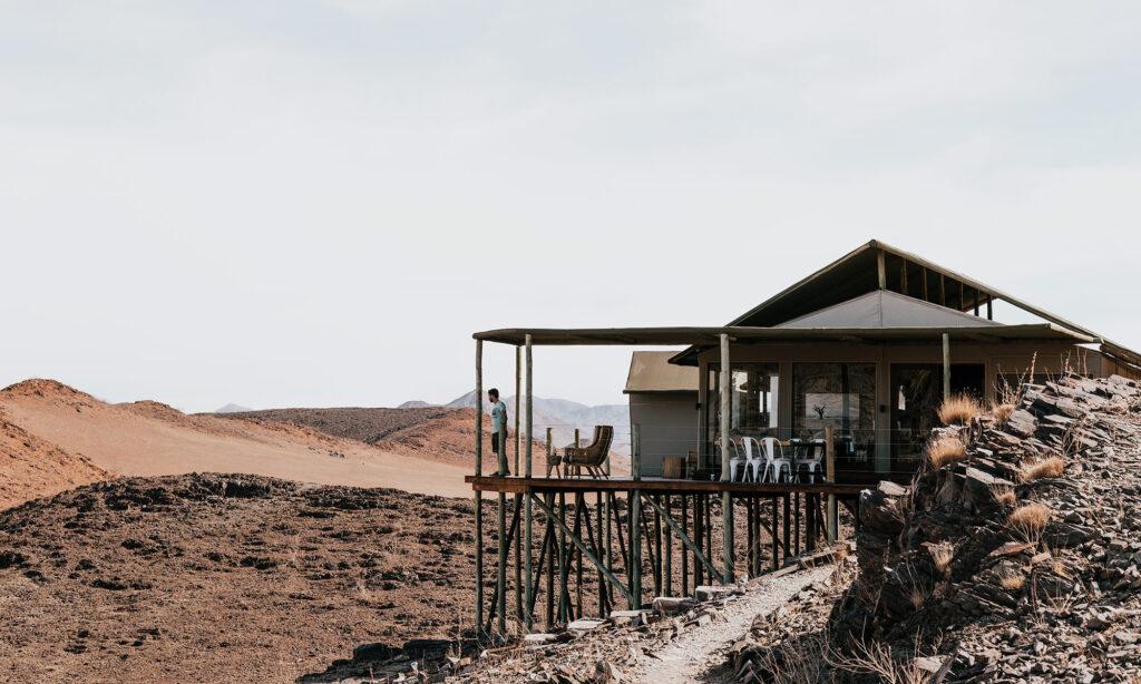 The restaurant at the Kanaan Desert Retreat