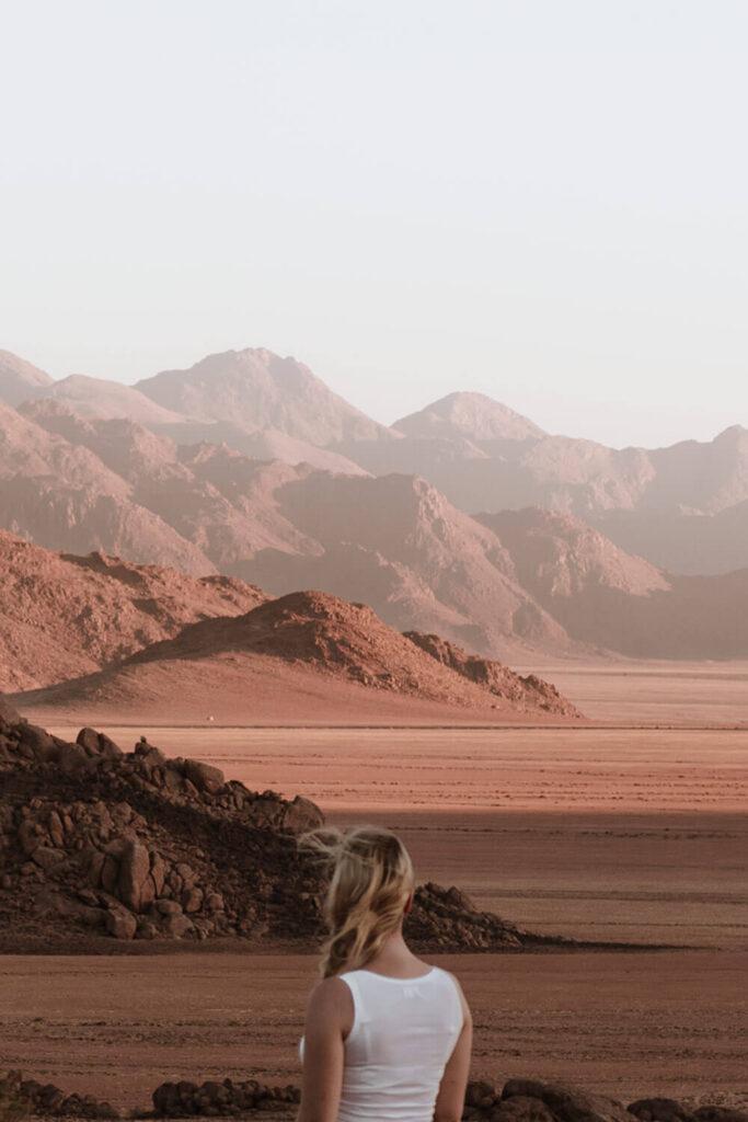 Sundowner views over the Namib Desert