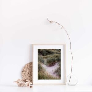 Beach Dunes photographic print with gift box