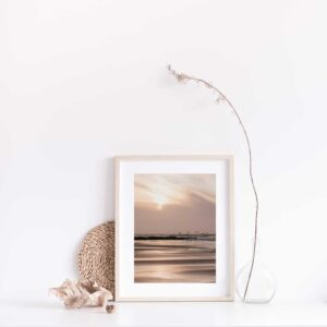 Birds at sunset photographic print with gift box
