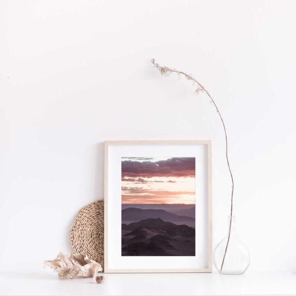 Purple Desert Skies Print with Gift Box