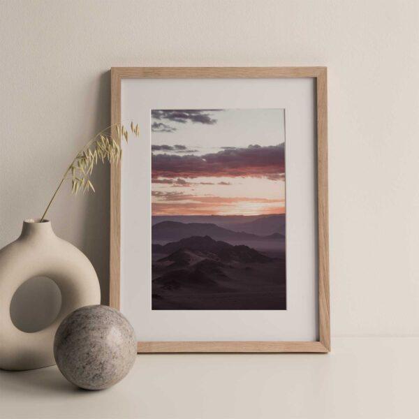 Moody desert skies Gallery Print Set