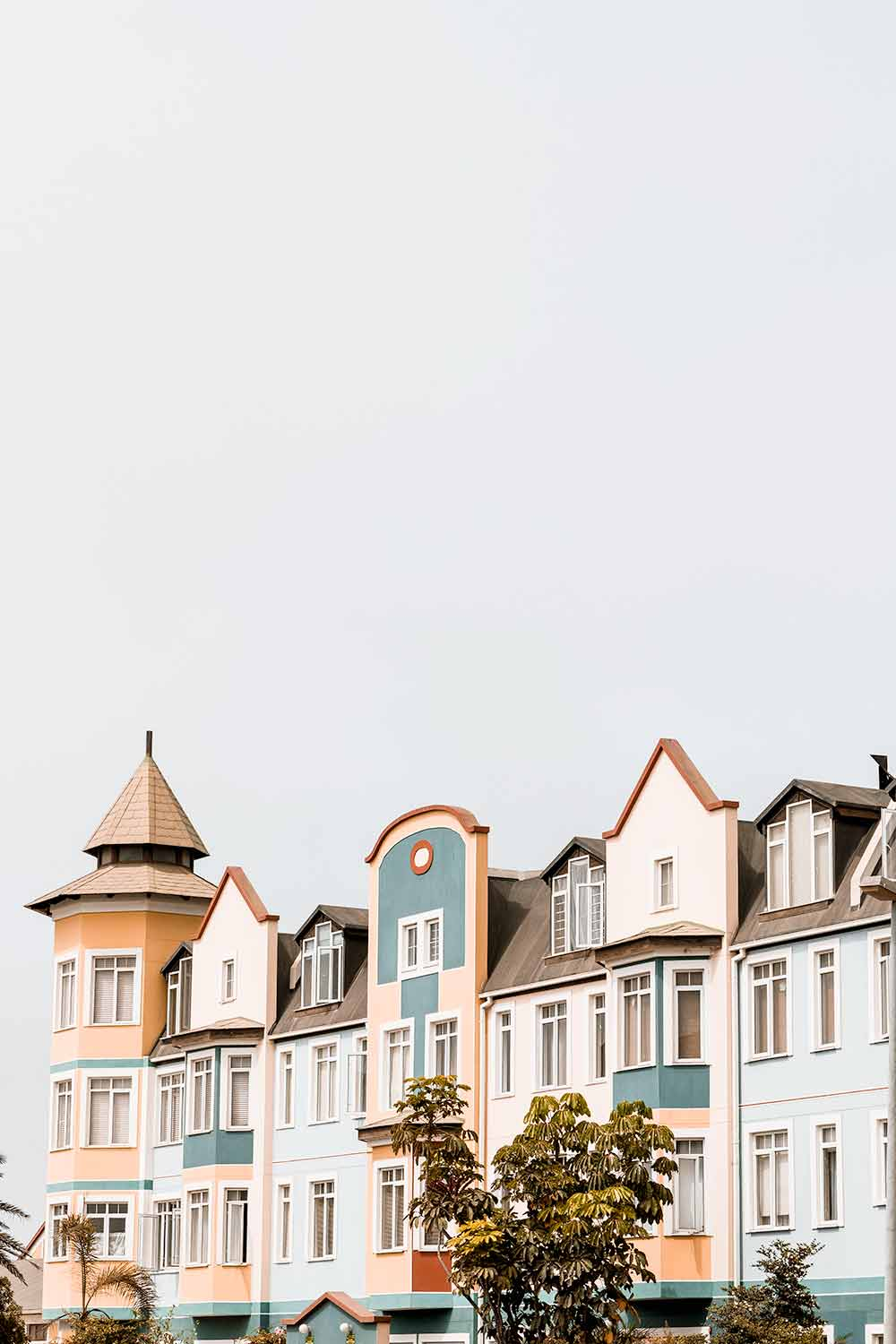 Colorful buildings in the streets of Swakopmund