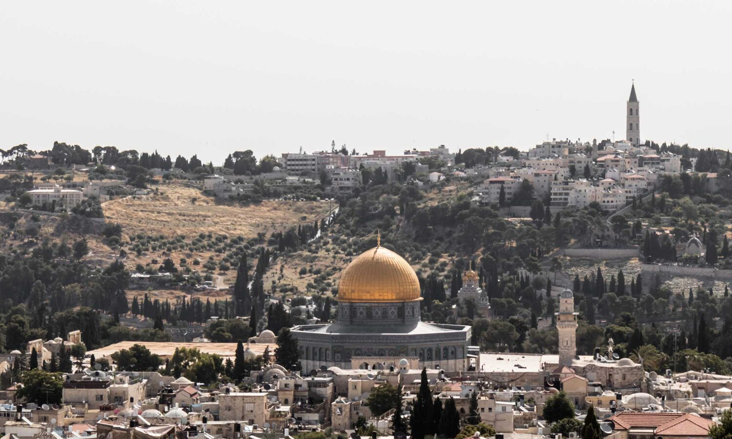 View of the Al Aqsa Mosque in Jerusalem