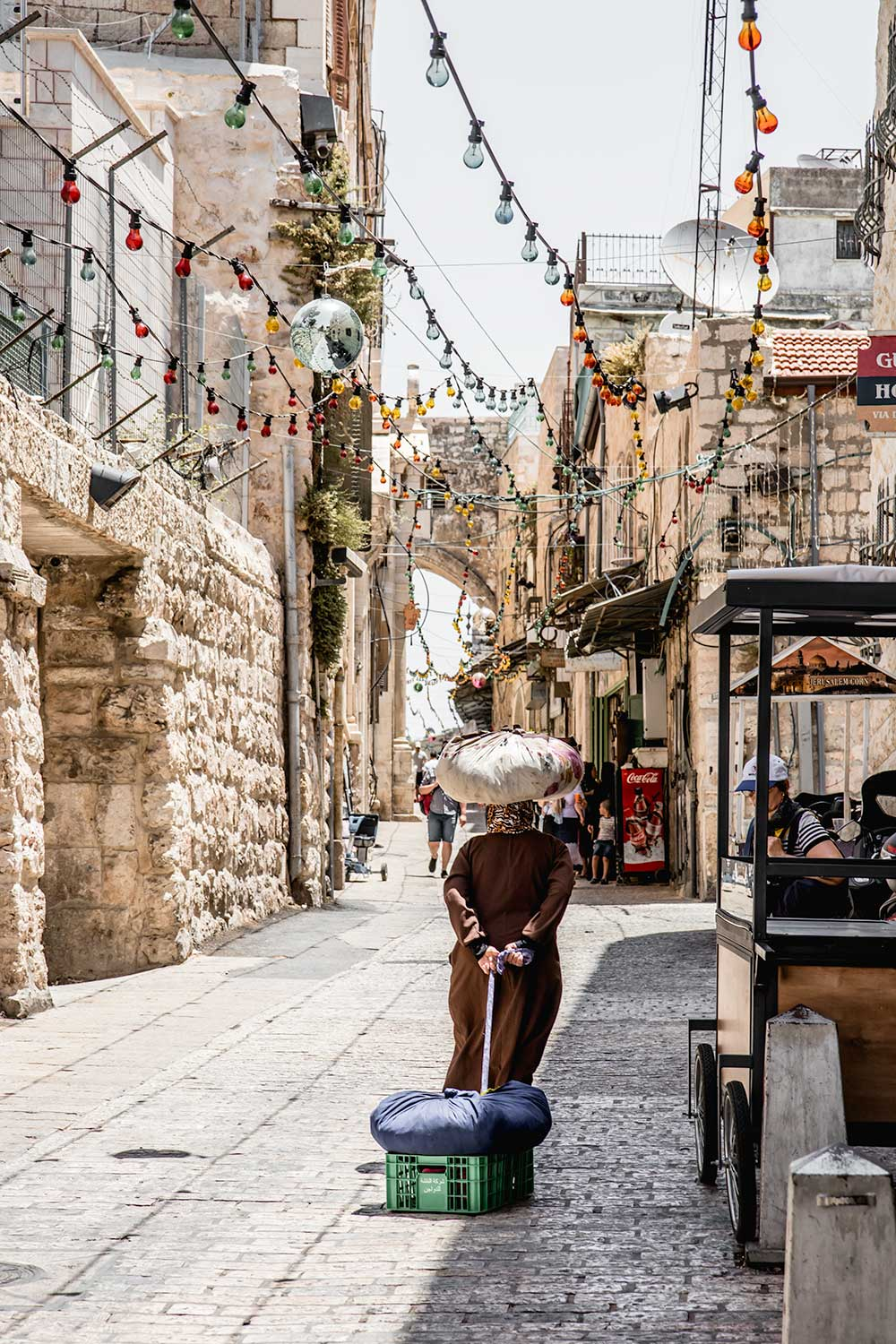The lively Muslim Quarter during our two days in Jerusalem