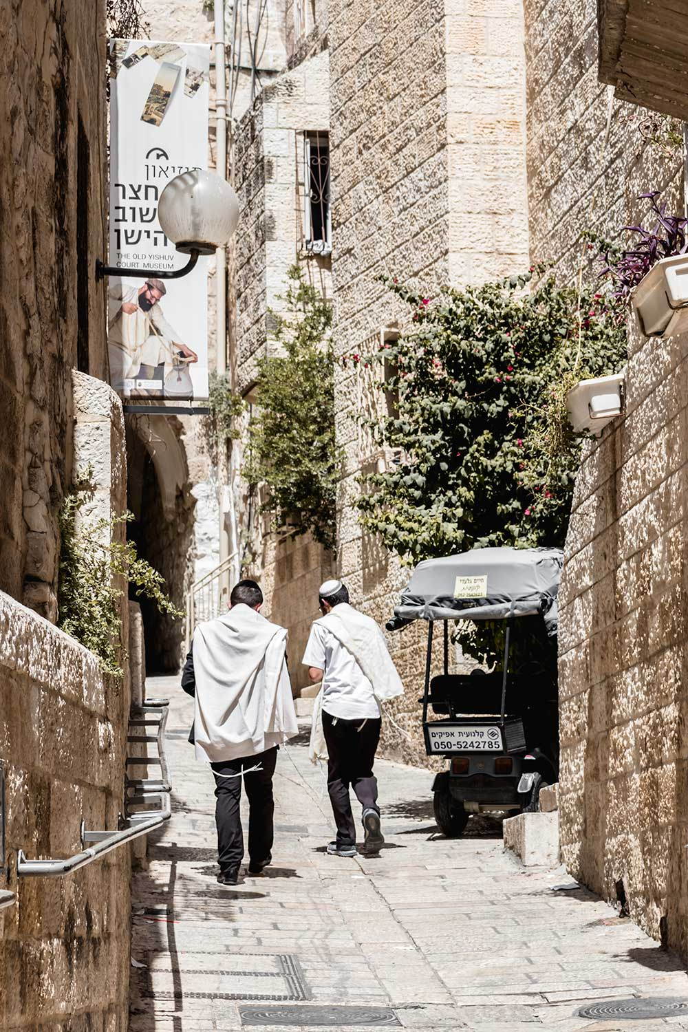 rthodox Jews in the Old City of Jerusalem on our two days in Jerusalem itinerary