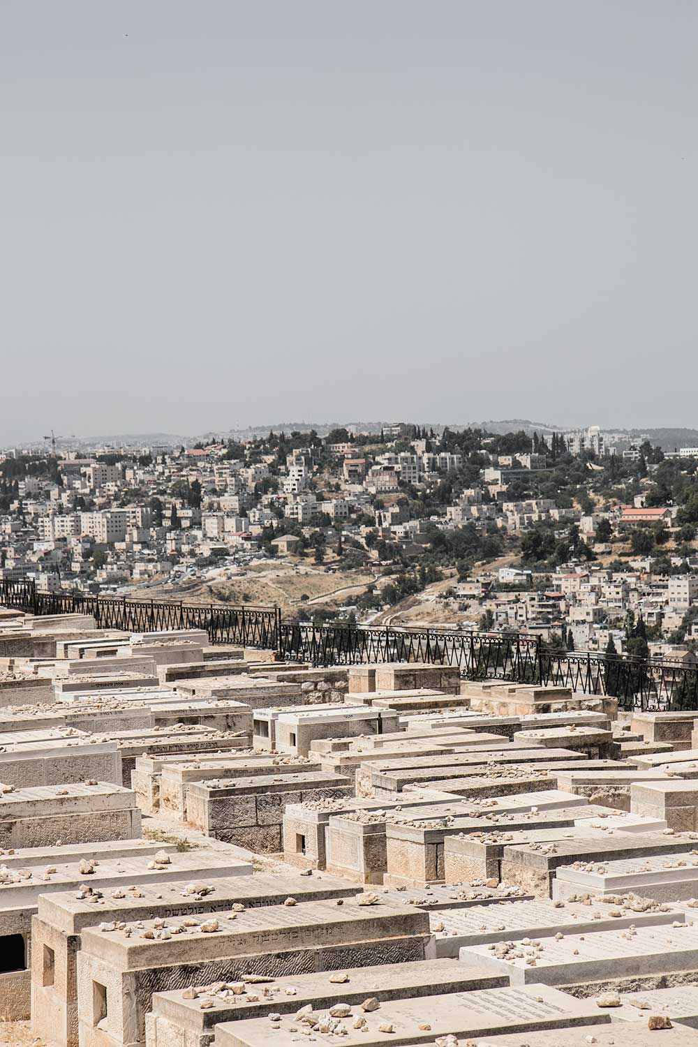 Jewish Graves looking towards Jerusalem and Temple Mount