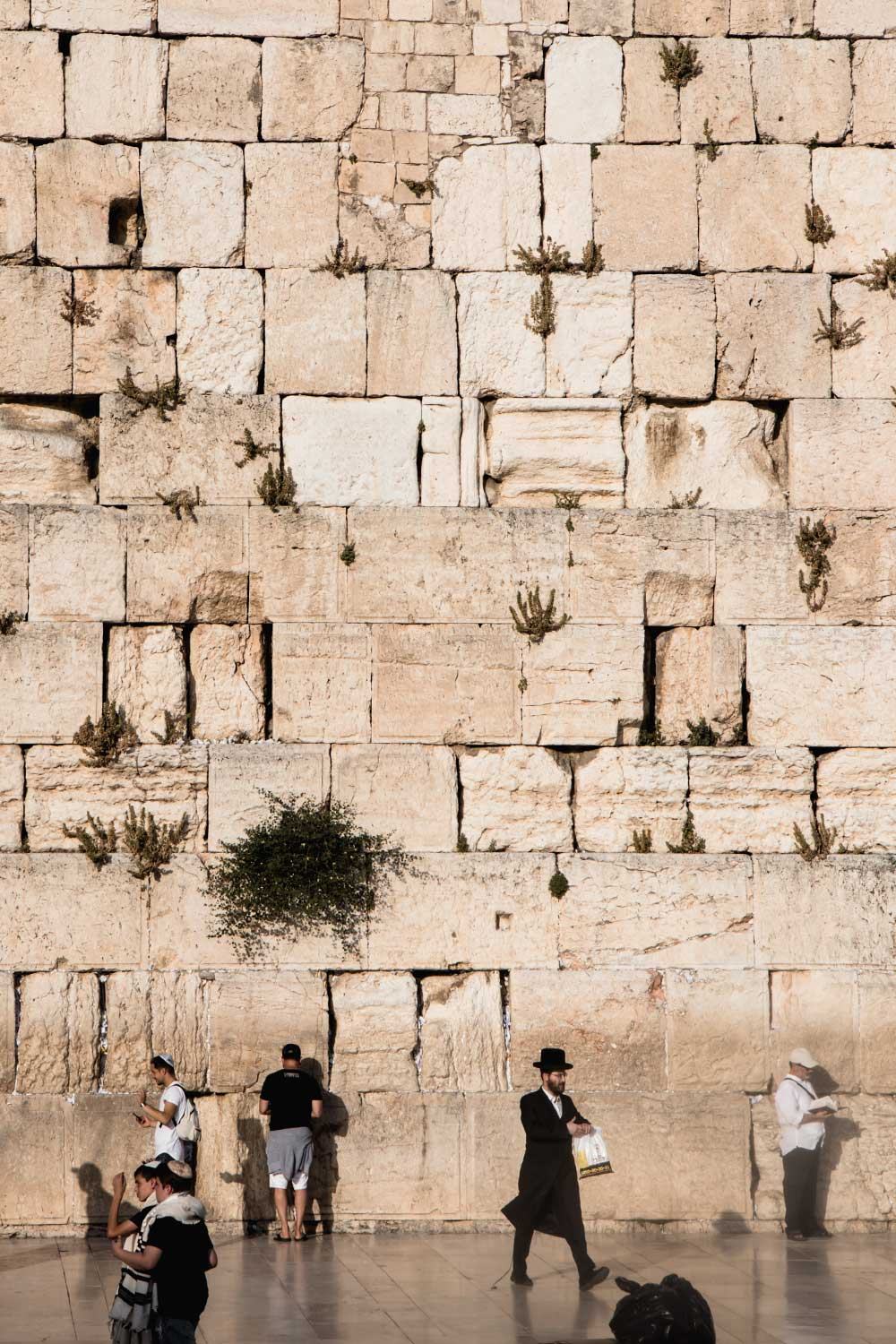 Jews worshipping at the Wailing Wall in Jerusalem