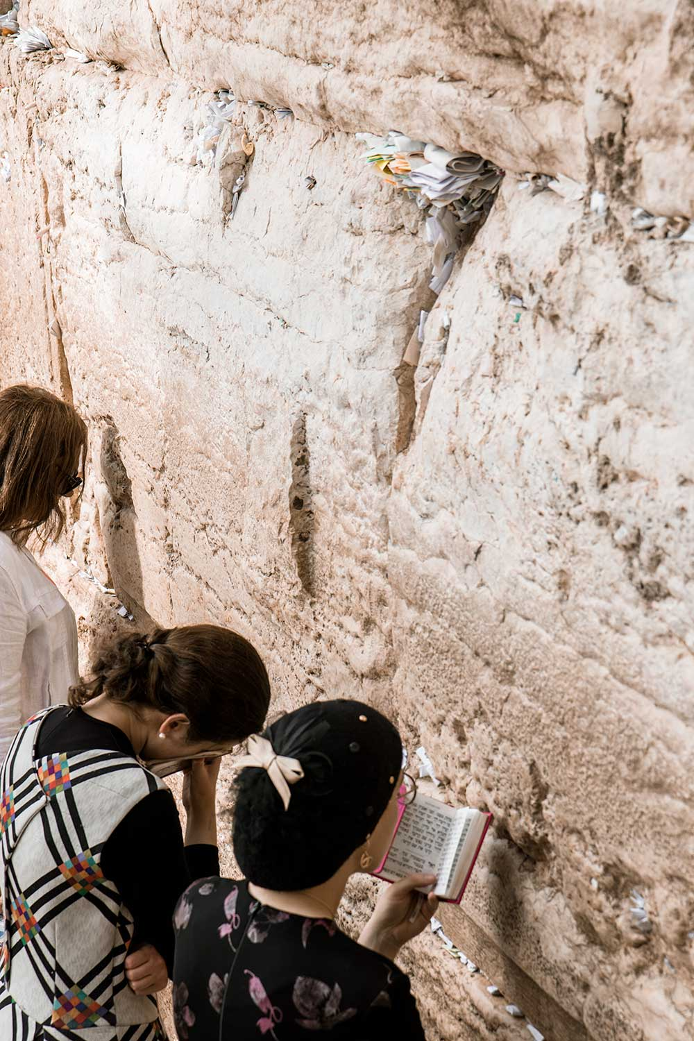 Orthodox Jews praying at the Wailing Wall on our two days in Jerusalem