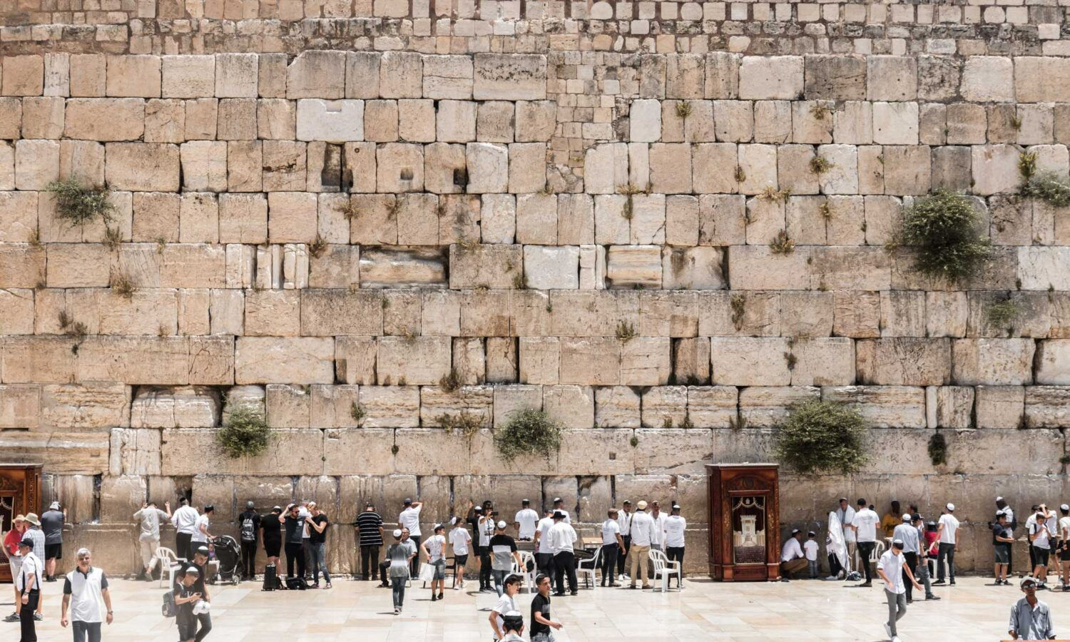 The Wailing Wall during our 2 days in Jerusalem itinerary