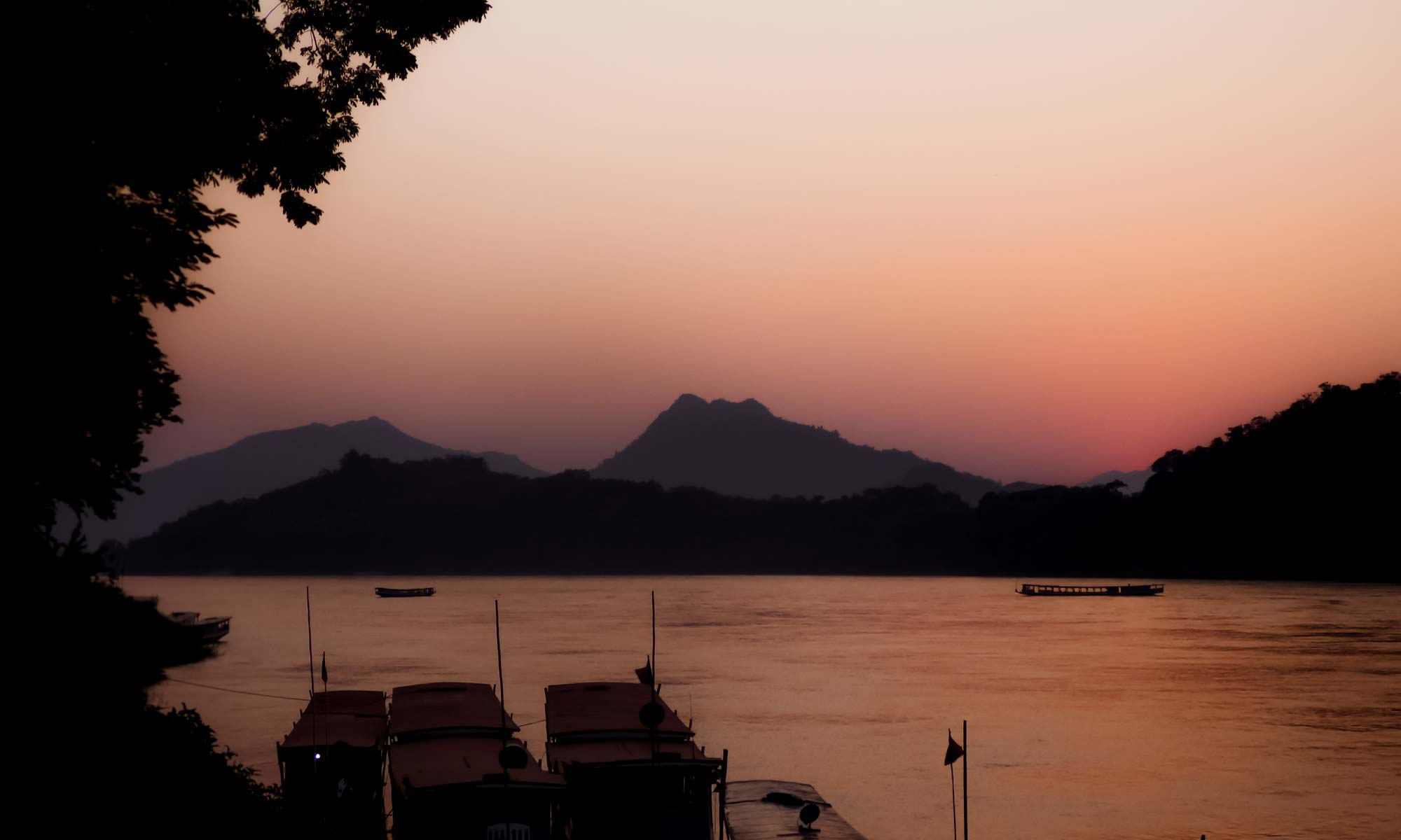 Magical sunset views in Luang Prabang, Laos' cultural city!