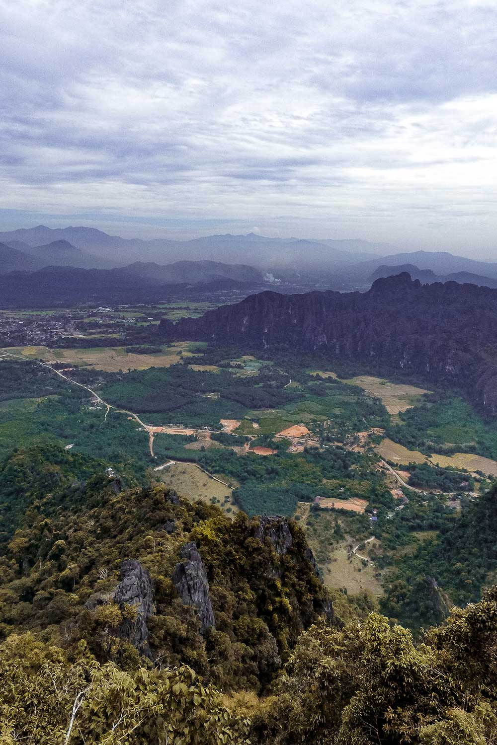 Gorgeous viewpoints over Laos' rice fields in Vang Vieng