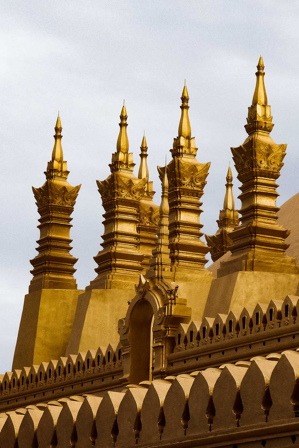 Golden temples in Vientiane