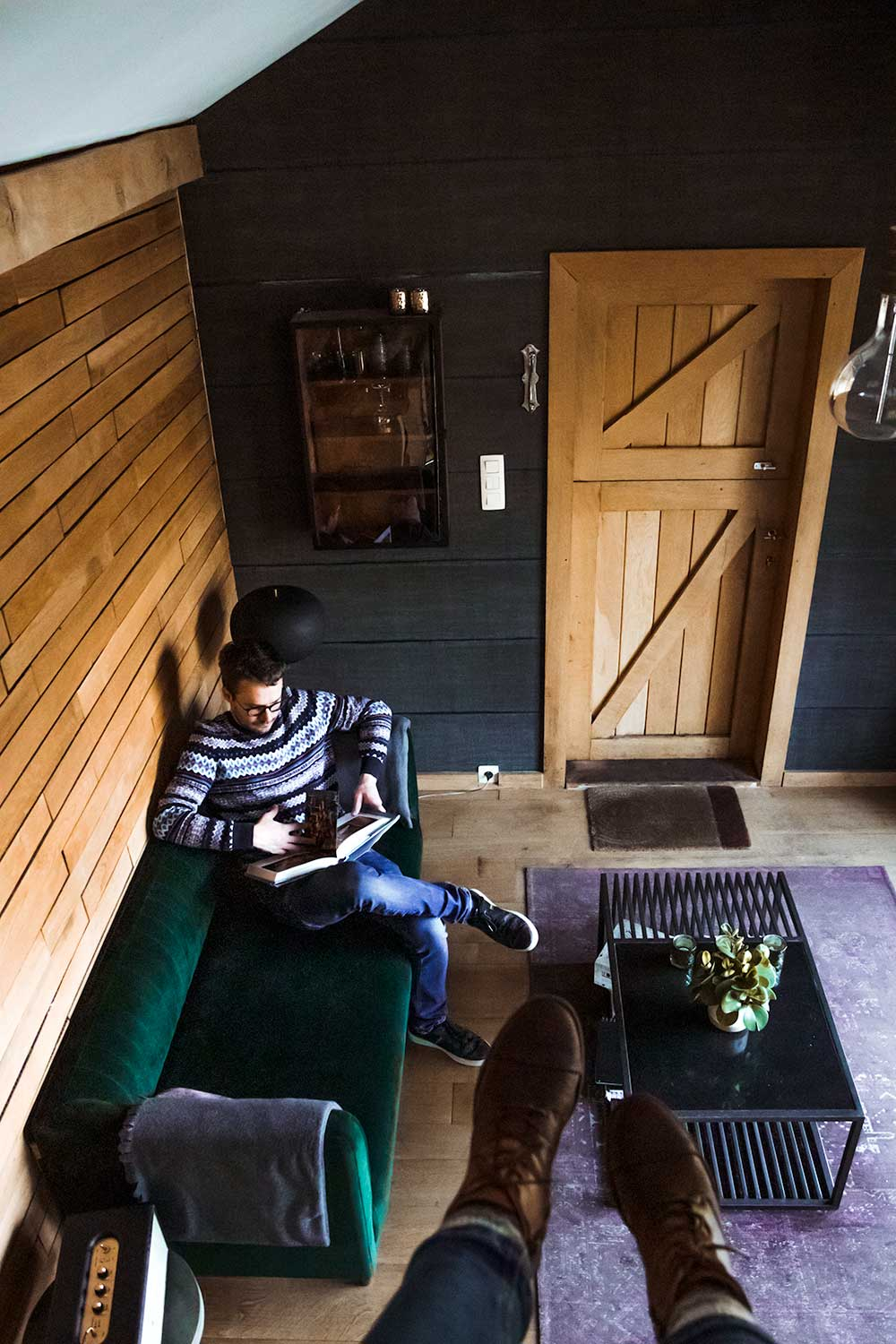 The cosy inside of the Belgium tiny house