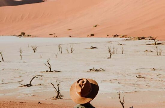 Looking out over Deadvlei on our 2 days in Sossusvlei