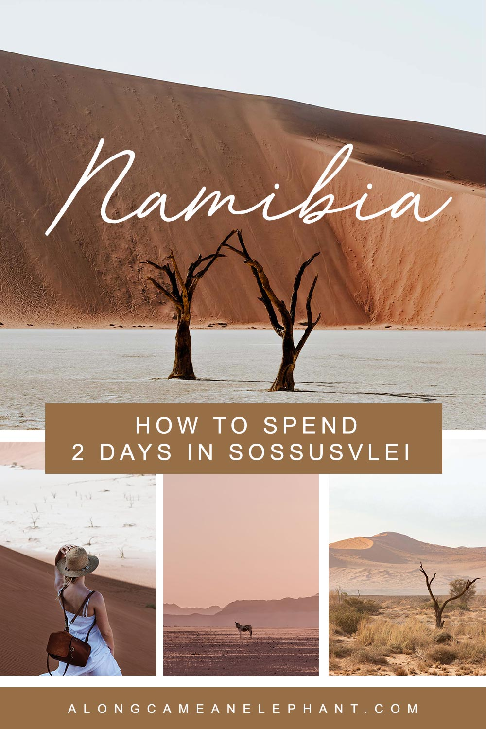 10 amazing things to do while in Sossusvlei, Namibia. A perfect 2day Sossusvlei itinerary covering the must-see highlights like Deadvlei, Sossusvlei and the majestic dunes but also some lesser traveled and tranquil attractions.  #travelnamibia #deadvlei #sossusvlei #namibiaitinerary #roadtrip
