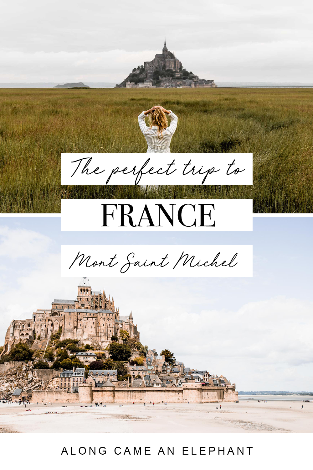 A perfect trip to the Mont-Saint-Michel, France. While this mysterious island attracts millions of visitors each year, it can be tough to appreciate its beauty through the crowds. Here's out perfect Mont-Saint-Michel itinerary to avoid the crowds! #france #montsaintmichel #francetravel #franceitinerary