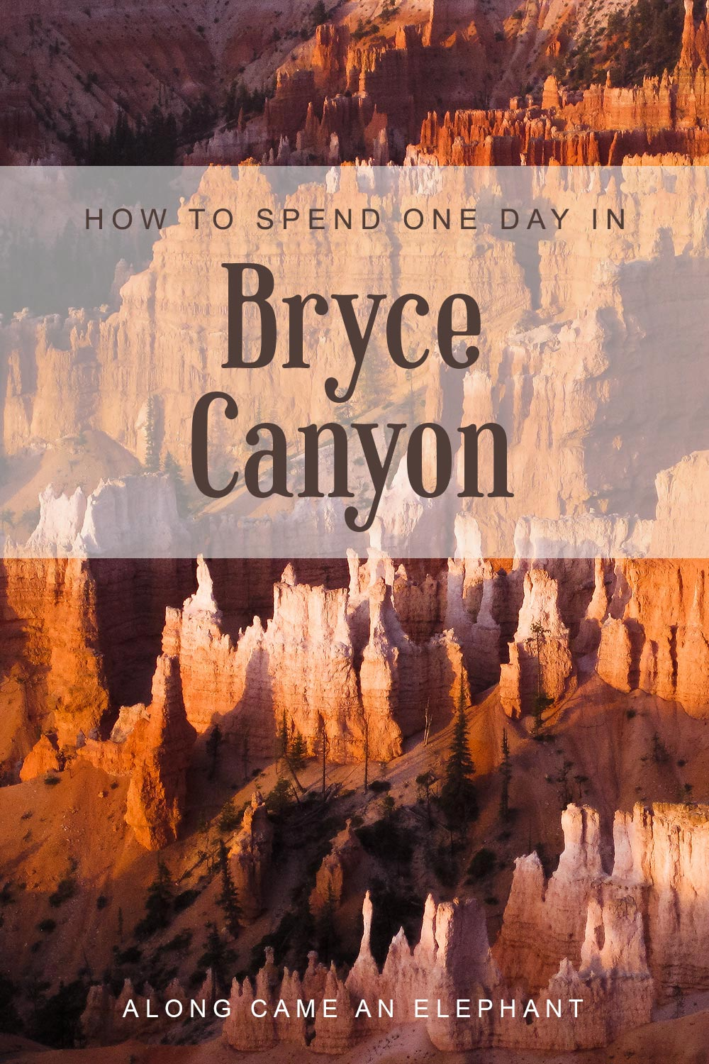The ultimate one day in Bryce Canyon itinerary for any nature lover! Includes the best hikes and viewpoints!  #roadtrip #brycecanyon #usatravel