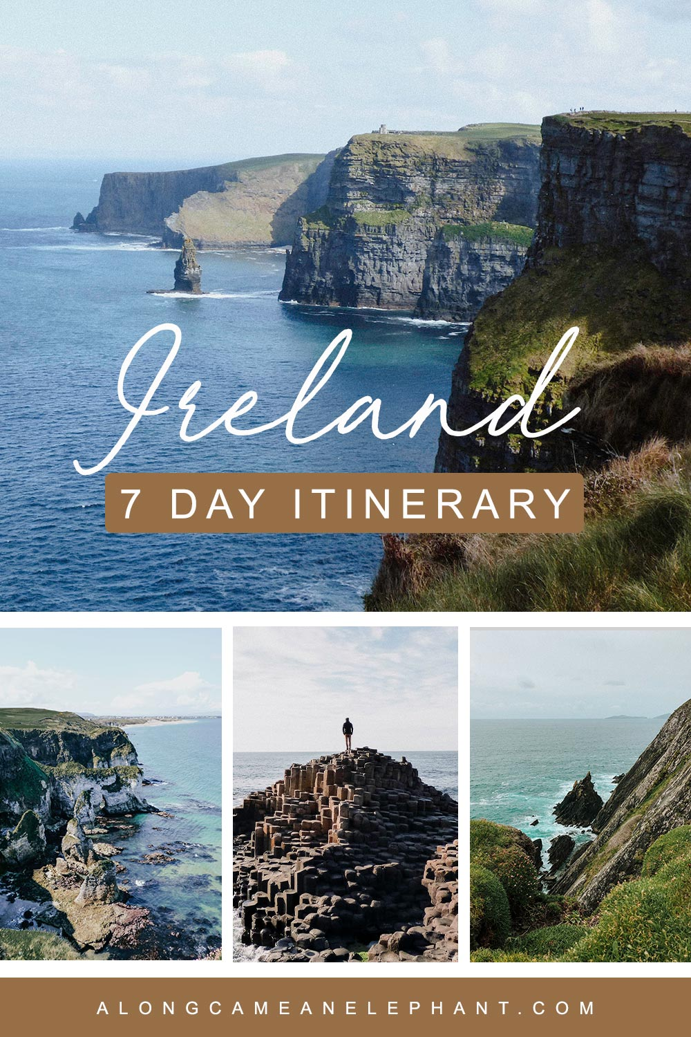Looking for inspiration for a short road trip to Ireland? Check out our 7 days in Ireland itinerary which includes all the major sights like the Ring of Kerry, the Wild Atlantic Way, Cliffs of Moher and the Giant Causeway. Also includes a 10 day alternative itinerary for people traveling by public transport!