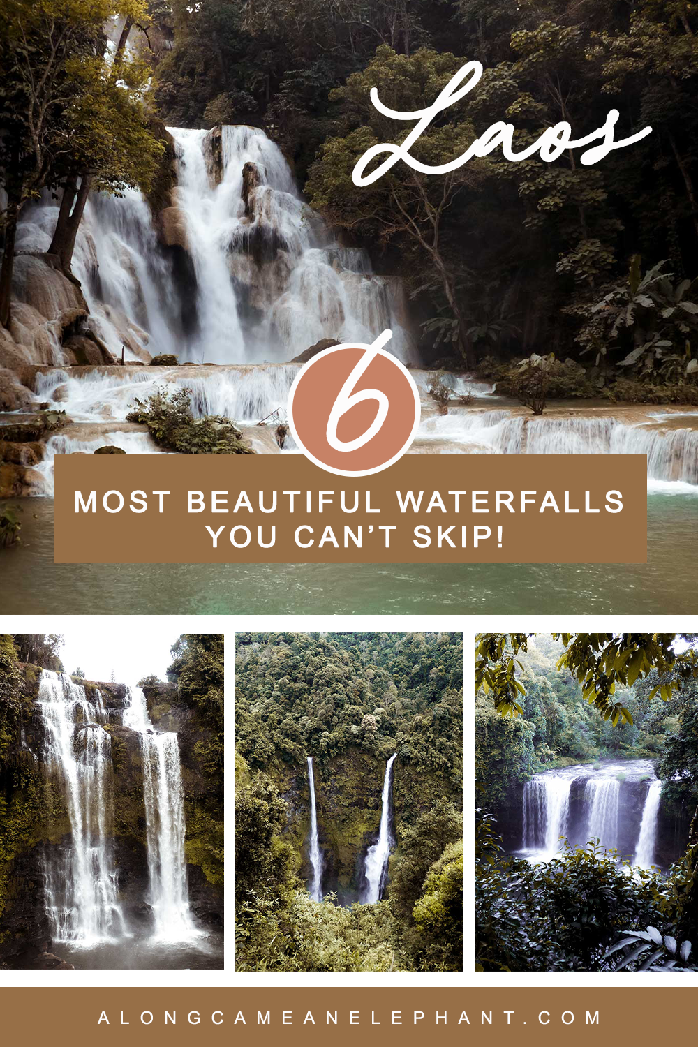 These are the 6 most beautiful waterfalls in Laos you just can't skip on your trip to Laos!  This post includes where to find them, how popular the falls are and all the entry fees for each location!  #waterfalls #travellaos #whattoseelaos