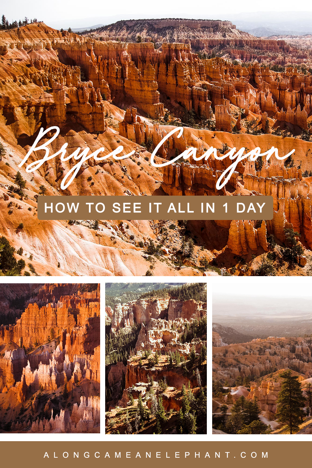 How to see Bryce Canyon's highlights in one day! Includes the best hikes and viewpoints!  #roadtrip #brycecanyon #usatravel